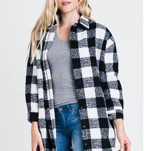 Renee C Beautiful Plaid Wool Coat